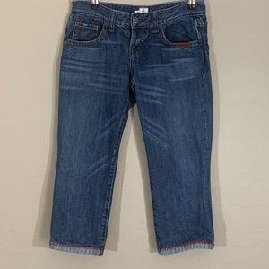 Joie Capri Jeans Medium Wash 25